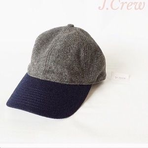 J crew colorblock wool baseball cap blue/navy